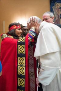 Mapuche with Pope Francis