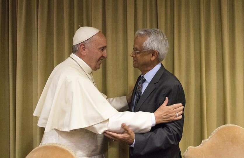 Dr. Veerabhadran Ramanathan with Pope Francis